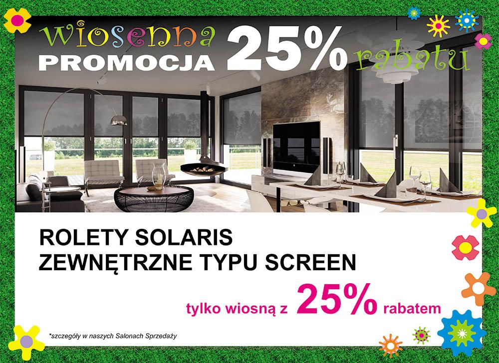 rolety Solaris w promocyjnej cenie